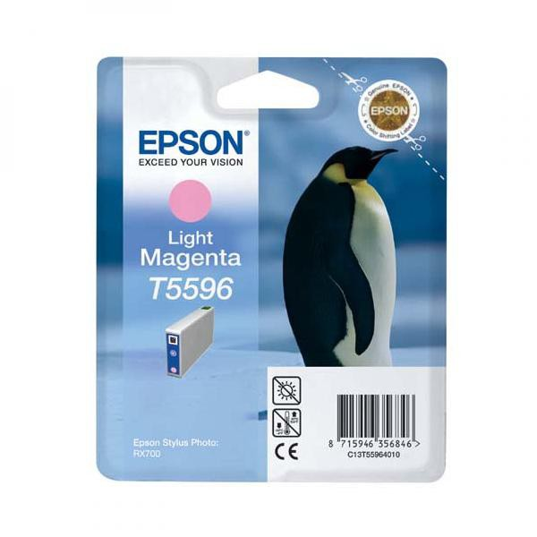 Epson originální ink C13T55964010, light magenta, 13ml, Epson Stylus Photo RX700