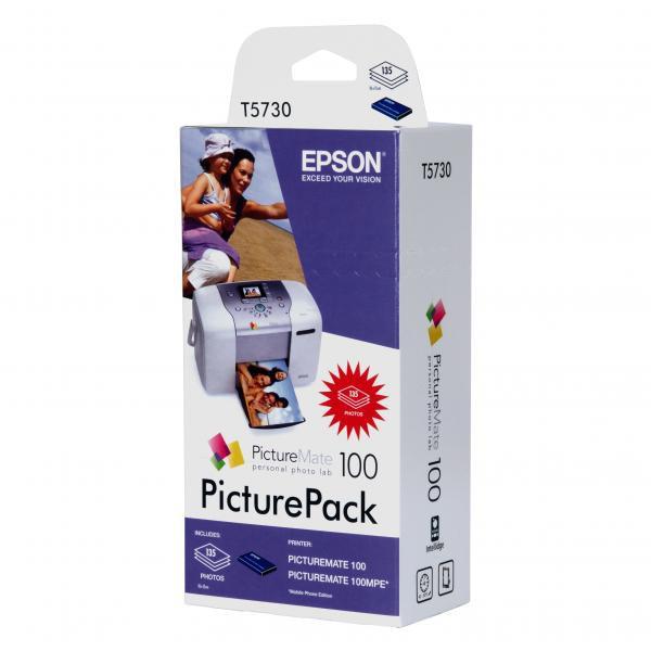 Epson originální ink C13T573040, CMYK, 135str., 4x39ml, Epson PictureMate 100