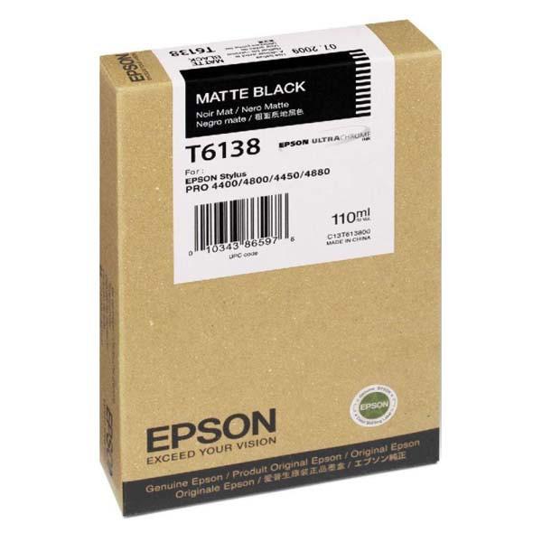 Epson originální ink C13T613800, matte black, 110ml, Epson Stylus Pro 4400, 4450, 4800