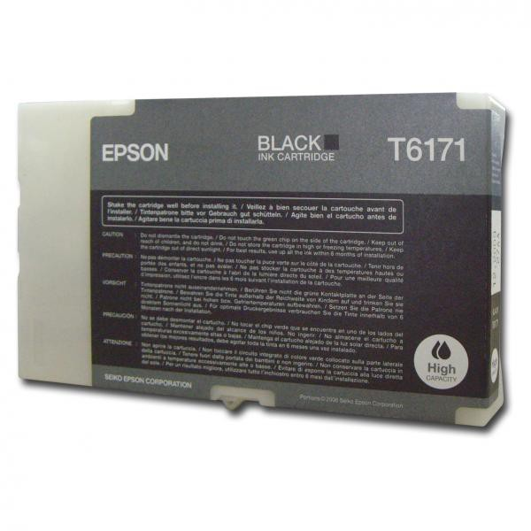 Epson originální ink C13T617100, black, 100ml, high capacity, Epson B500, B500DN