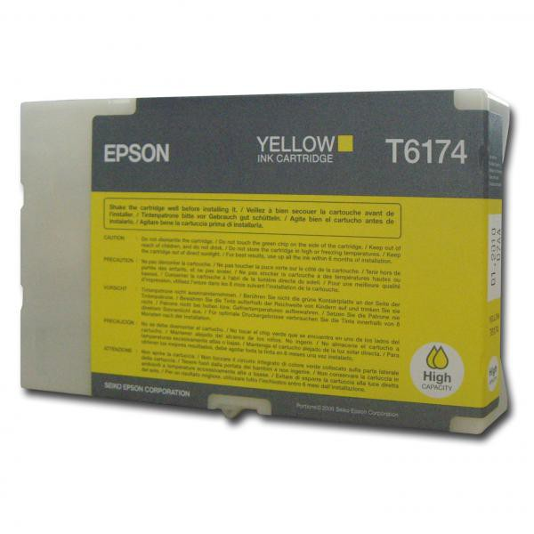 Epson originální ink C13T617400, yellow, 100ml, high capacity, Epson B500, B500DN