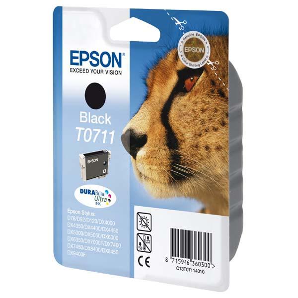 Epson originální ink C13T07114011, black, 245str., 7,4ml, Epson D78, DX4000, DX4050, DX5000, DX5050, DX6000, DX605