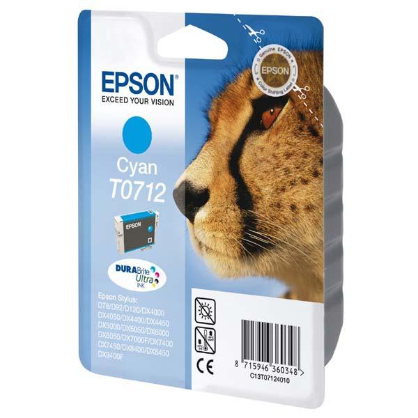 Epson originální ink C13T07124011, cyan, 375str., 5,5ml, Epson D78, DX4000, DX4050, DX5000, DX5050, DX6000, DX605