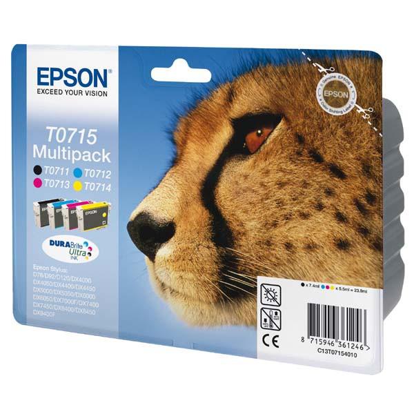 Epson originální ink blistr s ochranou, C13T07154020, CMYK, Epson D78, DX4000, DX4050, DX5000, DX5050, DX6000, DX605