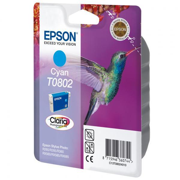 Epson originální ink C13T08024011, cyan, 7,4ml, Epson Stylus Photo PX700W, 800FW, R265, 285, 360, RX560