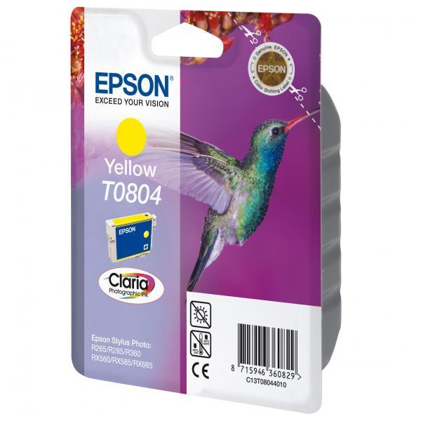 Epson originální ink blistr s ochranou, C13T08044021, yellow, 7,4ml, Epson Stylus Photo PX700W, 800FW, R265, 285, 360, RX560