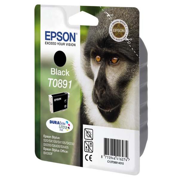 Epson originální ink blistr s ochranou, C13T08914021, black, 5,8ml, Epson Stylus S20, SX100, SX200, SX400