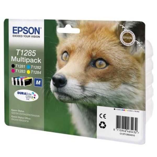 Epson originální ink blistr, C13T12854020, T1285, CMYK, 16,4ml, Epson Stylus S22, SX125, 420W, 425W, Stylus Office BX305