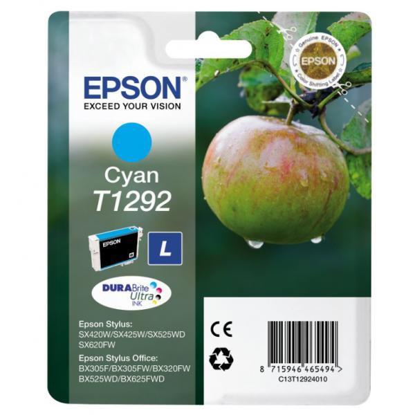 Epson originální ink blistr, C13T12924021, T1292, cyan, 485str., 7ml, Epson Stylus SX420W, 425W, Stylus Office BX305F, 320FW