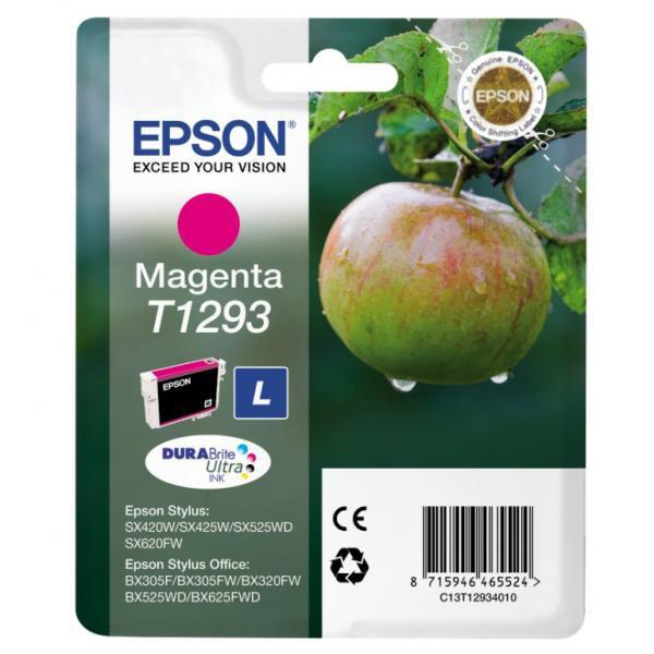 Epson originální ink blistr, C13T12934021, T1293, magenta, 485str., 7ml, Epson Stylus SX420W, 425W, Stylus Office BX305F, 320FW