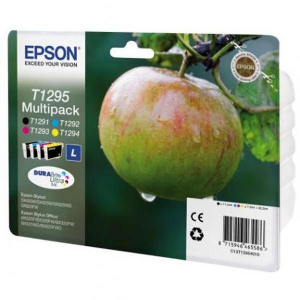 Epson originální ink C13T12954010, T1295, CMYK, 32,2ml, Epson Stylus SX420W, 425W, Stylus Office BX305F, 320FW