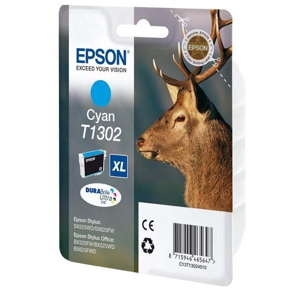 Epson originální ink C13T13024010, T1302, cyan, 765str., 10,1ml, Epson Stylus Office BX320FW