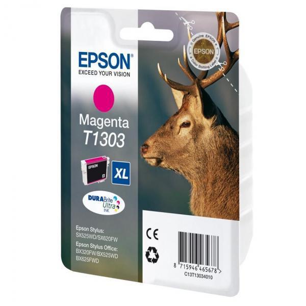 Epson originální ink C13T13034010, T1303, magenta, 765str., 10,1ml, Epson Stylus Office BX320FW