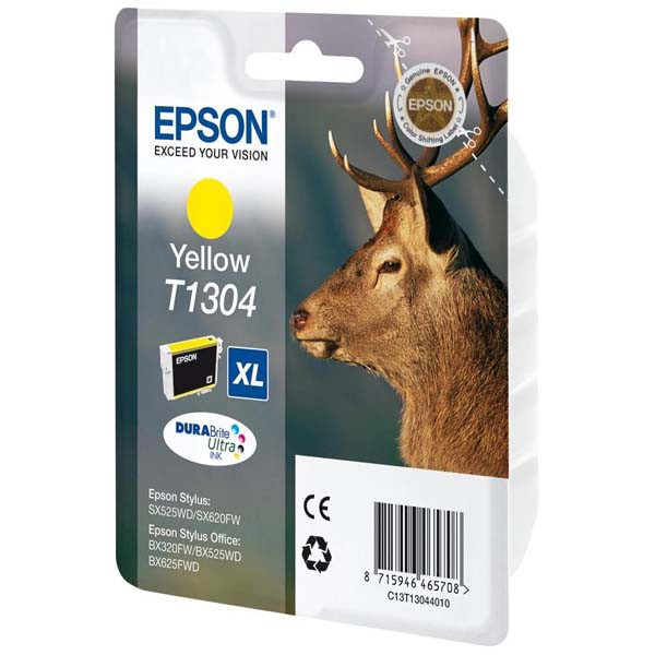 Epson originální ink C13T13044010, T1304, yellow, 765str., 10,1ml, Epson Stylus Office BX320FW