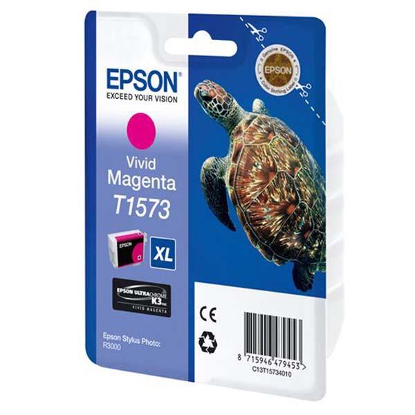 Epson originální ink C13T15734010, vivid magenta, 25,9ml, Epson Stylus Photo R3000