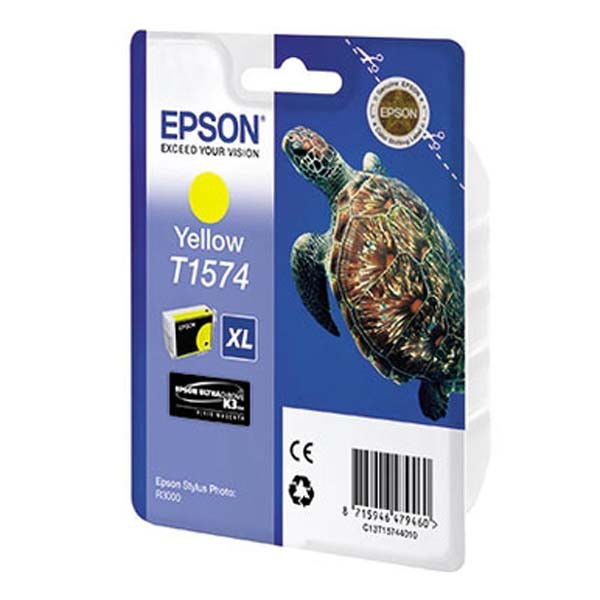 Epson originální ink C13T15744010, yellow, 25,9ml, Epson Stylus Photo R3000