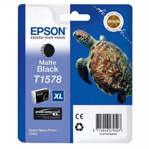 Epson originální ink C13T15784010, matte black, 25,9ml, Epson Stylus Photo R3000