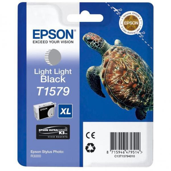 Epson originální ink C13T15794010, light light black, 25,9ml, Epson Stylus Photo R3000