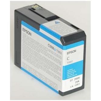 Epson originální ink C13T580200, cyan, 80ml, Epson Stylus Pro 3800