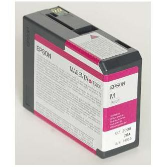 Epson originální ink C13T580300, magenta, 80ml, Epson Stylus Pro 3800