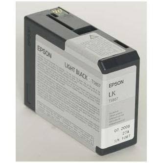 Epson originální ink C13T580700, light black, 80ml, Epson Stylus Pro 3800