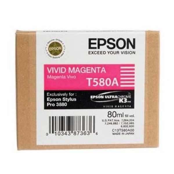 Epson originální ink C13T580A00, vivid magenta, 80ml, Epson Stylus Pro 3800