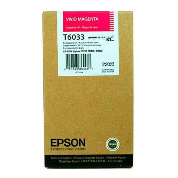 Epson originální ink C13T603300, vivid magenta, 220ml, Epson Stylus Pro 7800, 9800