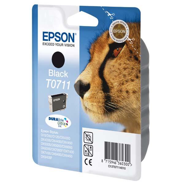 Epson originální ink blistr s ochranou, C13T07114021, black, 7,4ml, Epson D78, DX4000, DX4050, DX5000, DX5050, DX6000, DX605