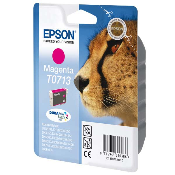 Epson originální ink C13T07134011, magenta, 270str., 5,5ml, Epson D78, DX4000, DX4050, DX5000, DX5050, DX6000, DX605