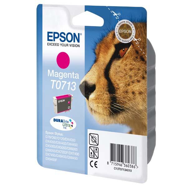 Epson originální ink blistr s ochranou, C13T07134021, magenta, 5,5ml, Epson D78, DX4000, DX4050, DX5000, DX5050, DX6000, DX605
