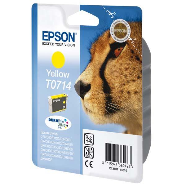Epson originální ink blistr s ochranou, C13T07144021, yellow, 5,5ml, Epson D78, DX4000, DX4050, DX5000, DX5050, DX6000, DX605