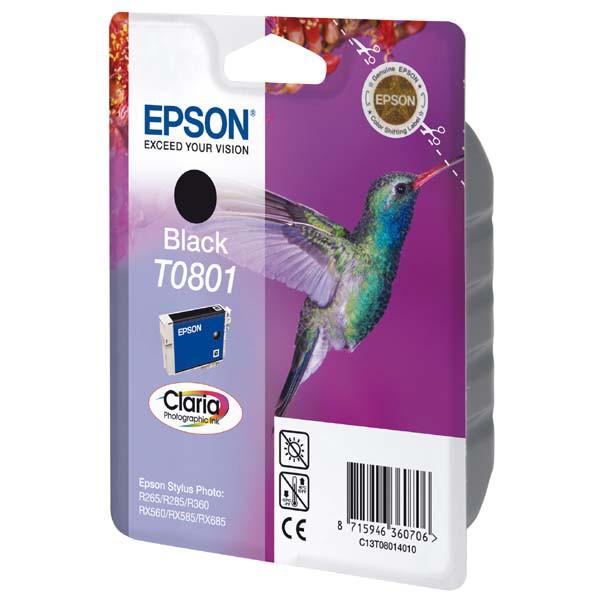 Epson originální ink C13T08014011, black, 7,4ml, Epson Stylus Photo PX700W, 800FW, R265, 285, 360, RX560