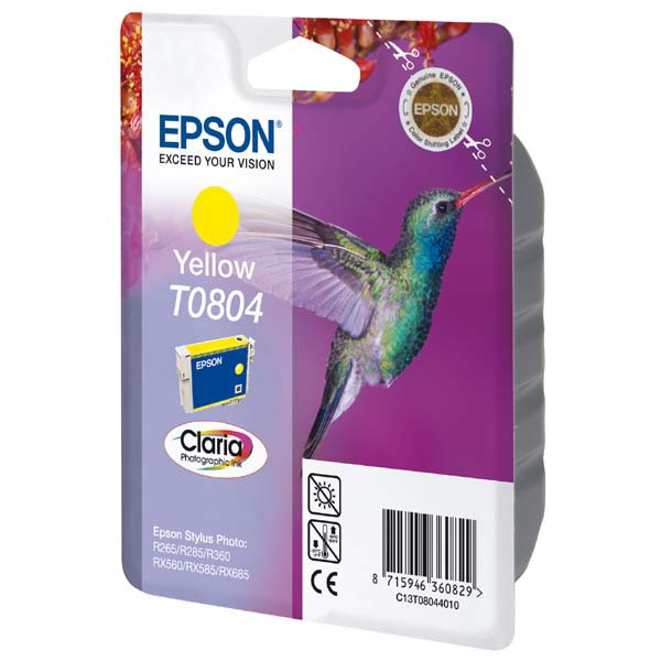 Epson originální ink C13T08044011, yellow, 7,4ml, Epson Stylus Photo PX700W, 800FW, R265, 285, 360, RX560