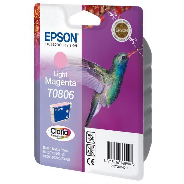 Epson originální ink C13T08064011, light magenta, Epson Stylus Photo PX700W, 800FW, R265, 285, 360, RX560