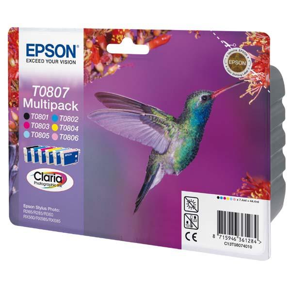 Epson originální ink blistr s ochranou, C13T08074021, CMYK, Epson Stylus Photo PX700W, 800FW, R265, 285, 360, RX560