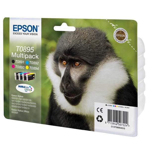 Epson originální ink C13T08954010, CMYK, 3x3,5/5,8ml, Epson Stylus S20, SX100, SX200, SX400