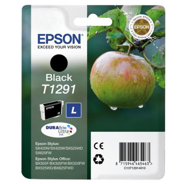 Epson originální ink blistr, C13T12914021, T1291, black, 420str., 11,2ml, Epson Stylus SX420W, 425W, Stylus Office BX305F, 320FW