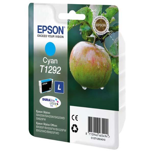 Epson originální ink C13T12924011, T1292, cyan, 485str., 7ml, Epson Stylus SX420W, 425W, Stylus Office BX305F, 320FW
