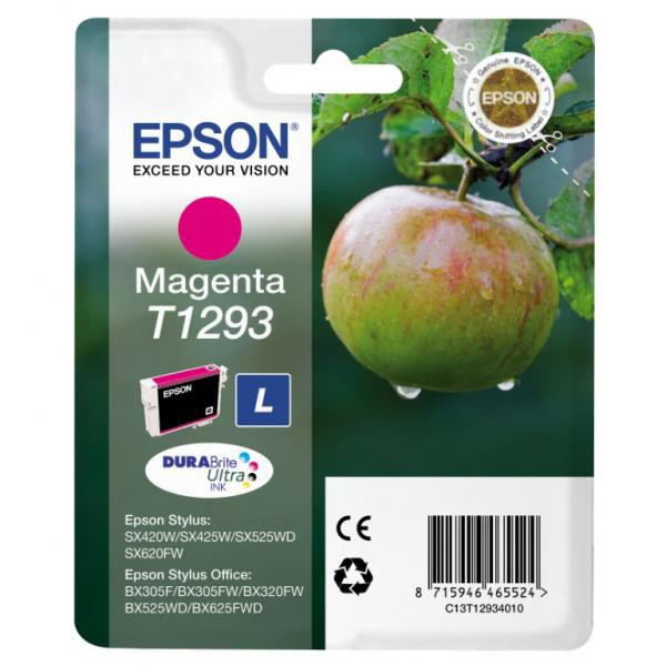 Epson originální ink C13T12934011, T1293, magenta, 485str., 7ml, Epson Stylus SX420W, 425W, Stylus Office BX305F, 320FW