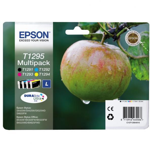Epson originální ink blistr, C13T12954020, T1295, CMYK, 32,2ml, Epson Stylus SX420W, 425W, Stylus Office BX305F, 320FW