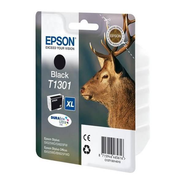 Epson originální ink blistr, C13T13014020, T1301, black, 945str., 25,4ml, Epson Stylus Office BX625FWD