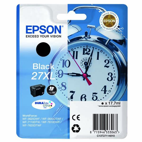 Epson originální ink C13T27114010, 27XL, black, 17,7ml, Epson WF-3620, 3640, 7110, 7610, 7620
