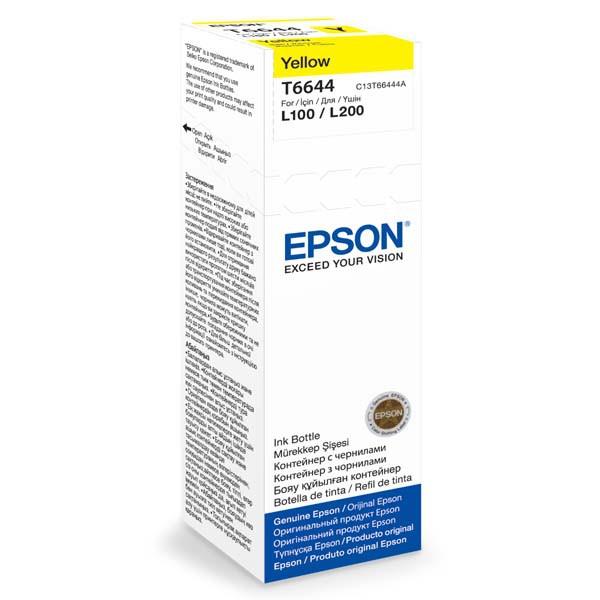 Epson originální ink C13T66444A, yellow, 70ml, Epson L100, L200, L300
