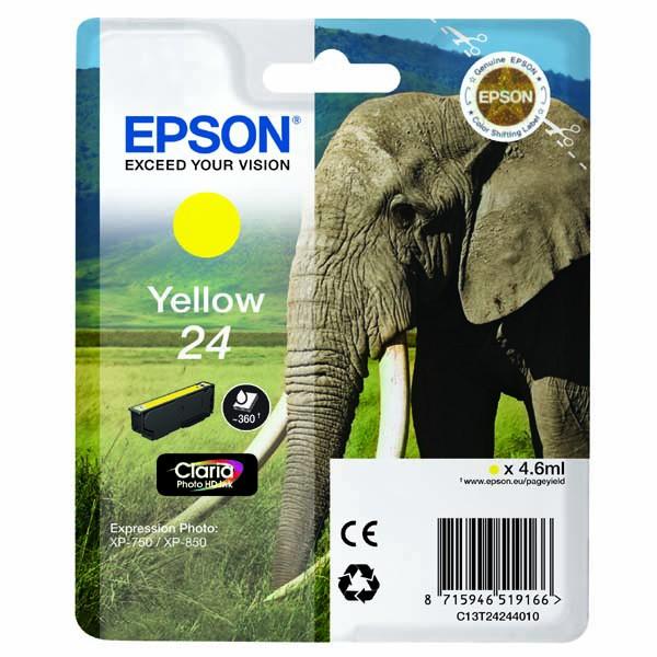 Epson originální ink C13T24244010, T2424, yellow, 4,6ml, Epson