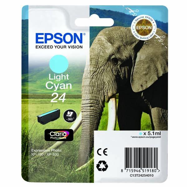 Epson originální ink C13T24254010, T2425, light cyan, 5,1ml, Epson