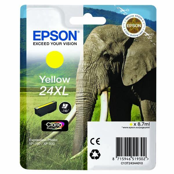 Epson originální ink C13T24344010, T2434, yellow, 8,7ml, Epson
