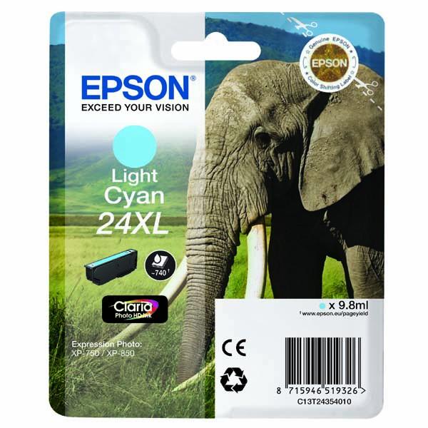 Epson originální ink C13T24354010, T2435, light cyan, 9,8ml, Epson