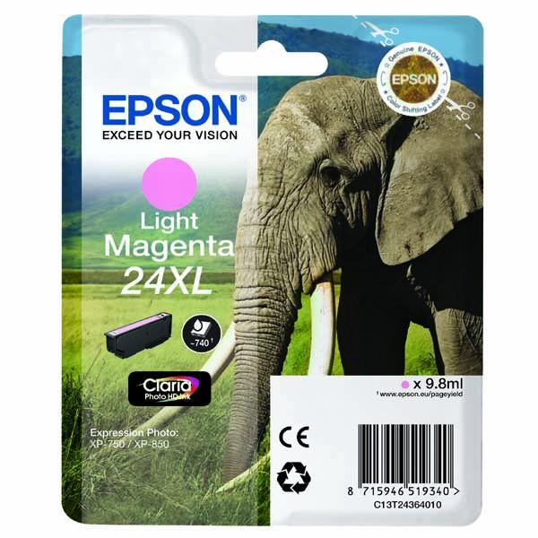 Epson originální ink C13T24364010, T2436, light magenta, 9,8ml, Epson