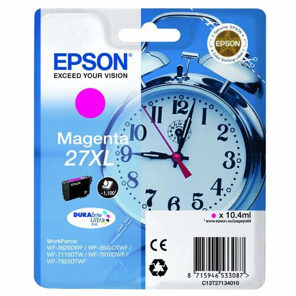 Epson originální ink C13T27134010, 27XL, magenta, 10,4ml, Epson WF-3620, 3640, 7110, 7610, 7620