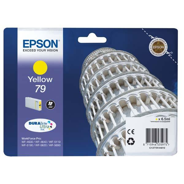 Epson originální ink C13T79144010, 79, L, yellow, 800str., 7ml, 1ks, Epson WorkForce Pro WF-5620DWF, WF-5110DW, WF-5690DWF